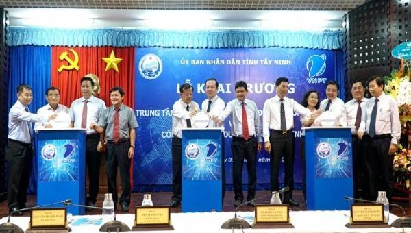 Lễ khai trương Trung tâm điều hành thông minh Tây Ninh.