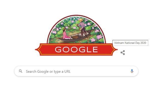 Google chúc mừng Quốc khánh 2/9 bằng hình ảnh đậm chất Việt