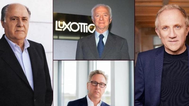 Amancio Ortega, Leonardo Del Vecchio, Heinrich Deichmann và François Pinault đều kiếm tiền tỷ từ thời trang. Ảnh: Luxurylaunches