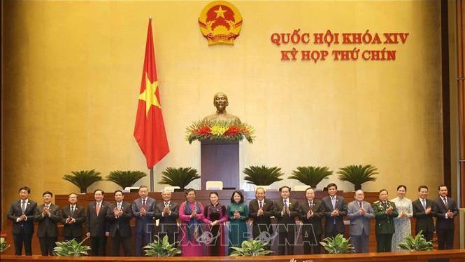 Lễ ra mắt Hội đồng bầu cử quốc gia. (Ảnh: Doãn Tấn/TTXVN).
