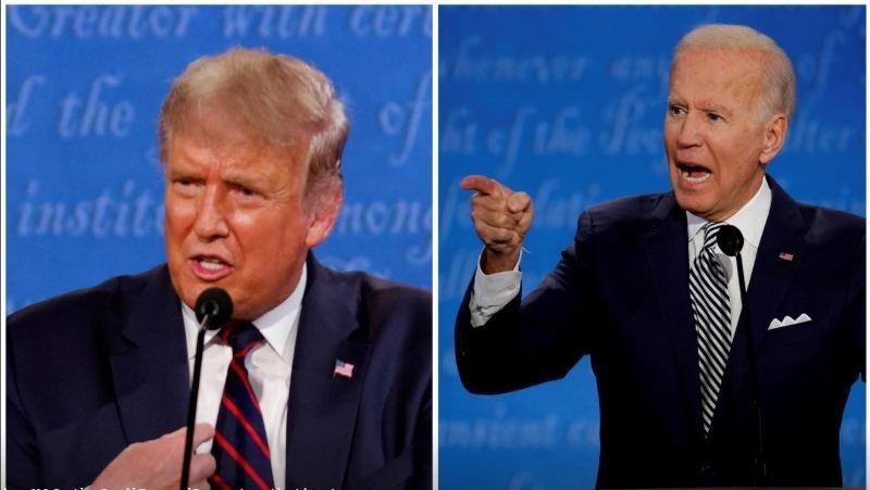 Hai ứng cử viên Tổng thống Mỹ: ông Trump (bên trái) và ông Biden (bên phải).