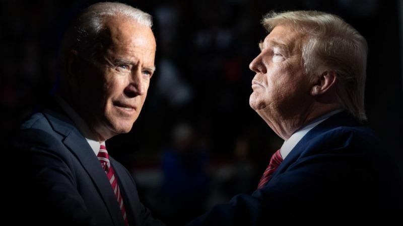 Ứng cử viên bầu cử Tổng thống Mỹ năm 2020: Ông Joe Biden (trái) và đương kim Tổng thống Donald Trump (phải).