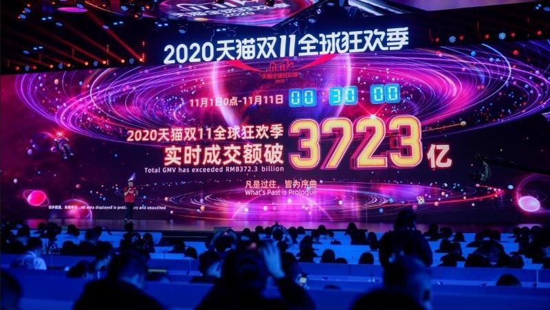 Số liệu của Alibaba cho thấy giá trị đơn hàng trong buổi sáng Ngày độc thân đã vượt 56 tỷ đô - la.