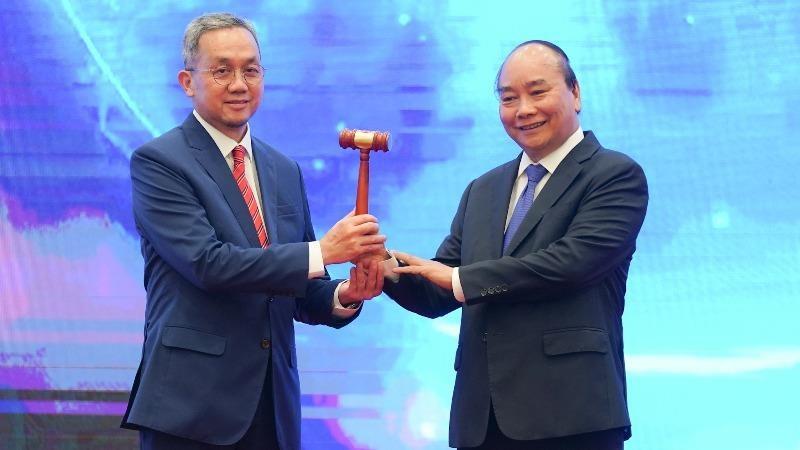 Lễ chuyển giao vai trò Chủ tịch ASEAN cho Brunei. Ảnh: VGP/Quang Hiếu.