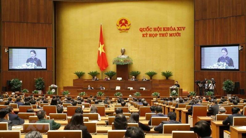 Chủ tịch Quốc hội Nguyễn Thị Kim Ngân phát biểu bế mạc kỳ họp. (Ảnh: Doãn Tấn/TTXVN).