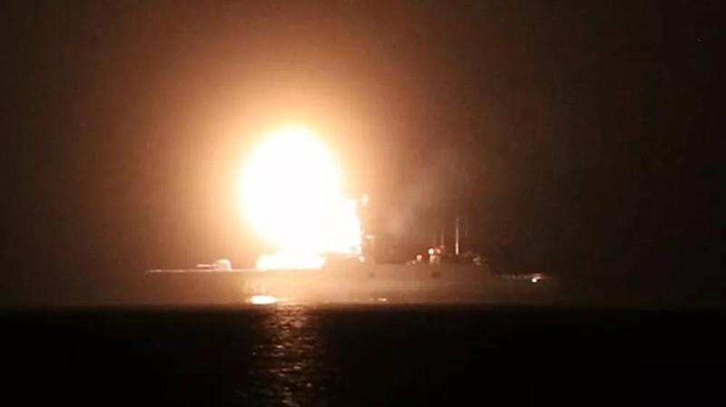Hình ảnh vụ thử tên lửa Zircon. Ảnh: Sputnik/Bộ Quốc phòng Nga.
