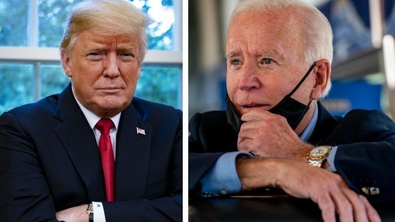 Ông Donald Trump và ông Joe Biden. Ảnh: SCMP Archives