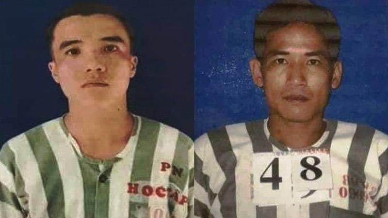 Hai phạm nhân đang thụ án tội giết người trốn trại