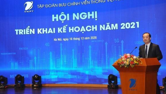 Ông Phạm Đức Long, Chủ tịch VNPT cho biết, VNPT đã khẳng định được vai trò tiên phong trong chuyển đổi số quốc gia khi triển khai thành công nhiều nền tảng lớn cho Chính phủ.