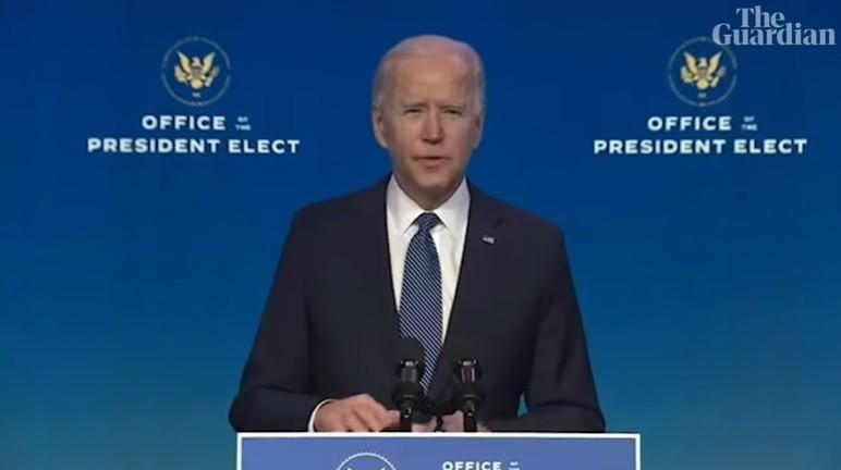 Tổng thống đắc cử Joe Biden phát biểu ngày 7/1/2021.