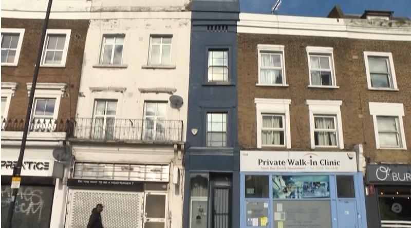 Ngôi nhà mỏng nhất London được rao bán giá hơn một triệu euro