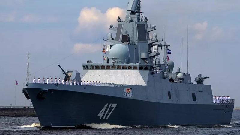 Tàu Đô đốc Gorshkov. Ảnh: Sputnik/Alexey Danichev.