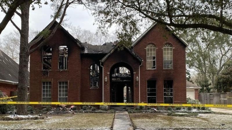 Ngôi nhà nơi xảy ra vụ vụ hỏa hoạn (Ảnh: Shelley)
