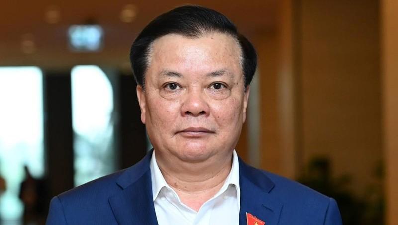 Bí thư Thành ủy Hà Nội, Bộ trưởng Tài chính Đinh Tiến Dũng. Ảnh: Giang Huy.