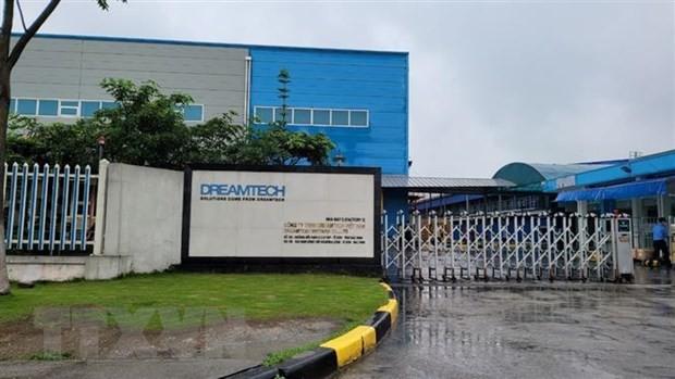 Công ty TNHH Dreamtech Việt Nam - nơi xảy ra vụ cháy khiến 3 công nhân tử vong. Ảnh TTXVN