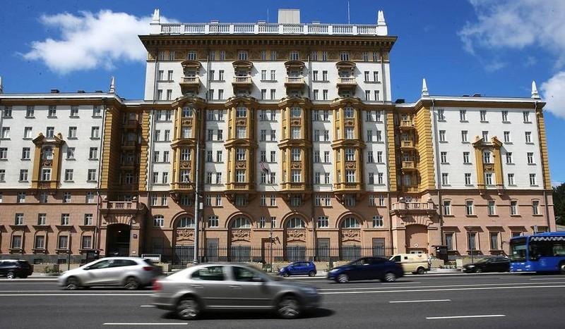 Đại sứ quán Mỹ tại Nga. Ảnh: TASS