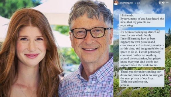 """Con gái cả của Bill Gates lần đầu lên tiếng về việc bố mẹ """"đường ai nấy đi"""""""