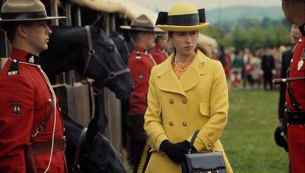 Công chúa Anne tại Triển lãm Nông nghiệp miền Tây nước Anh với các thành viên của Cảnh sát Hoàng gia Canada