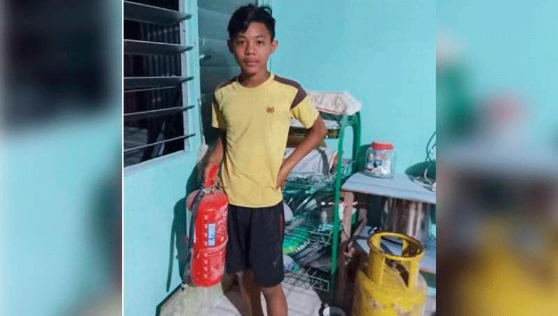 Cậu bé 13 tuổi dập lửa cứu ngôi nhà có hơn 100 người ở