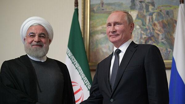 Tổng thống Iran Hassan Rouhani và Tổng thống Nga Vladimir Putin. Ảnh: RIA Novosti.