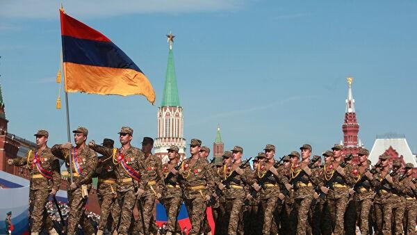Quân đội Armenia tại Diễu hành Chiến thắng. Ảnh tư liệu: Ria Novosti.