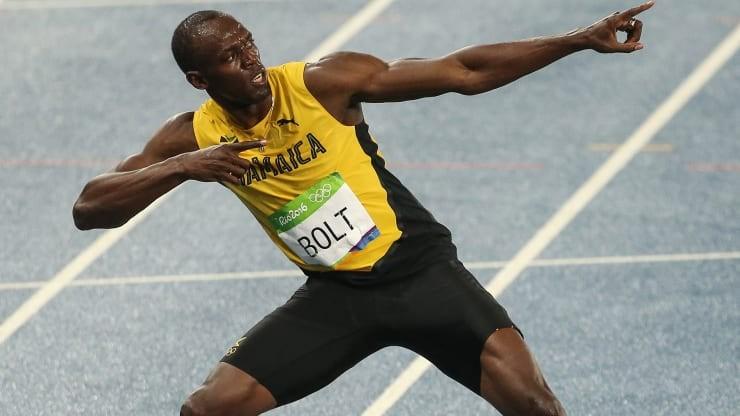Usain Bolt giành chiếc HCV ở nội dung chạy nước rút 100m và 200m tại Rio 2016.
