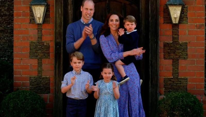 Công nương Kate Middleton và Hoàng tử William cùng các con Hoàng tử George, Công chúa Charlotte, Hoàng tử Louis.