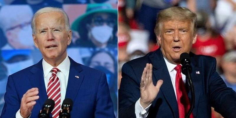 Đại diện đảng Dân chủ Joe Biden (trái) và Tổng thống đương nhiệm Donald Trump - đại diện đảng Cộng hòa.