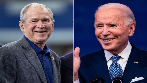 Cựu Tổng thống George W. Bush và Tổng thống đắc cử Joe Biden.