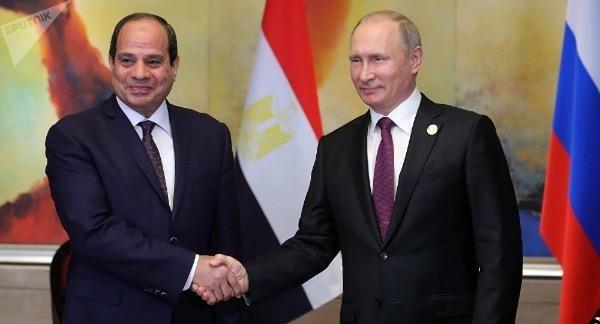 Tổng thống Ai Cập Abdel Fattah al-Sisi và Tổng thống Nga Vladimir Putin.