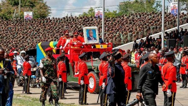 Tang lễ Tổng thống John Magufuli.
