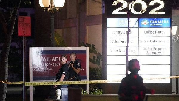 Hiện trường vụ nổ súng khiến 4 người thiệt mạng ở thành phố Orange, California, Mỹ.