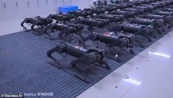 """Một đoạn video """"đáng sợ"""" về các robot bốn chân của Trung Quốc"""