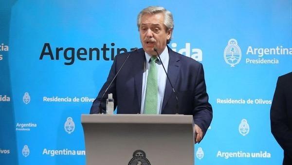 Tổng thống Argentina Alberto Fernandez.