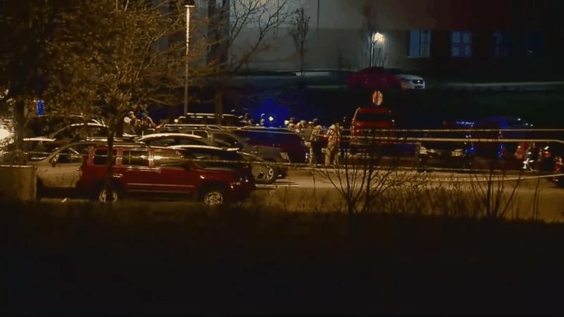 Hiện trường vụ xả súng ở Indianapolis.