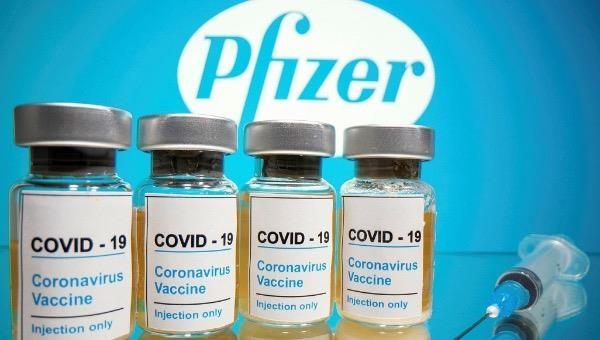 Hình ảnh vaccine COVID-19 của Pfizer.
