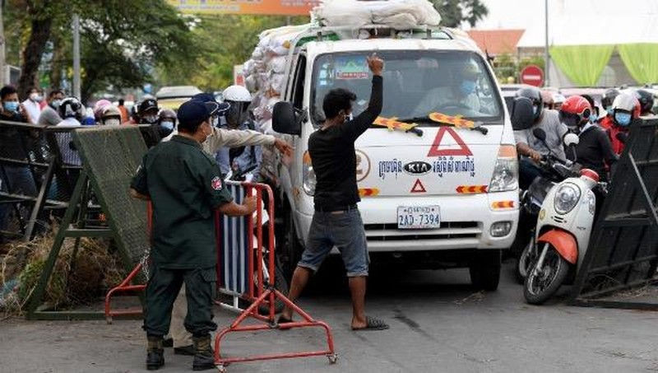 Campuchia bắt 7 người Việt vi phạm lệnh  phong tỏa