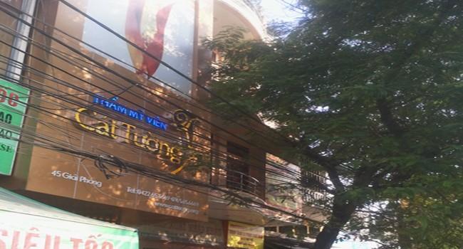 Thẩm mỹ viện Cát Tường, nơi chị Lê Thị Thanh Huyền phẫu thuật thẩm mỹ và tử vong.