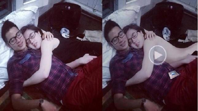 Bức ảnh của JVevermind và Mie trước và sau khi bị photoshop