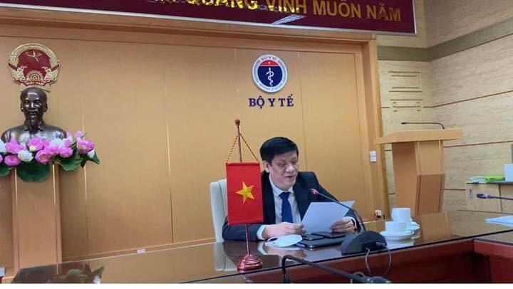GS.TS. Nguyễn Thanh Long, Thứ trưởng thường trực Bộ Y tế - đại diện của Việt Nam tại Hội nghị trực tuyến Bộ trưởng Bộ Y tế các nước ASEAN với Mỹ .