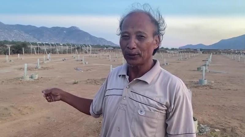 Ông Nguyễn Văn Chở - thôn Thiện Đức, xã Phước Minh, huyện Thuận Nam, tỉnh Ninh Thuận.