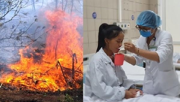 Một phụ nữ ngộ độc khói do đốt nương làm rẫy