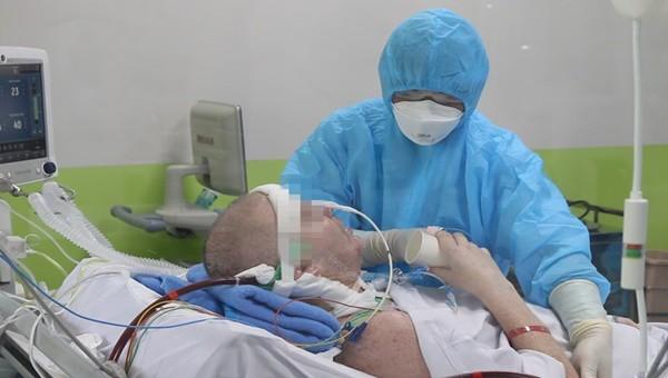 Bệnh nhân 91 đã có tình hình sức khoẻ tốt hơn. Ảnh: BVCC