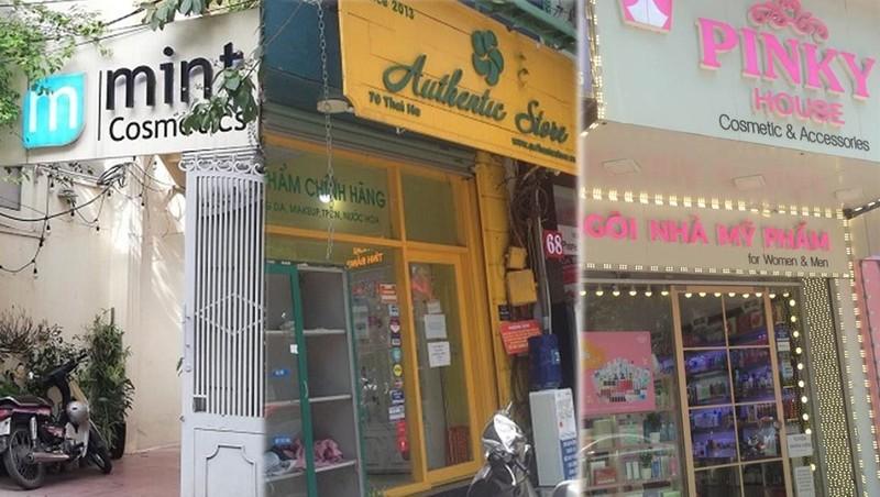 Sau phản ánh của Báo Pháp luật Việt Nam, chuỗi mỹ phẩm Mint Cosmetics, Authentic Store, Pinky House bán hàng nhập lậu đã bị xử phạt