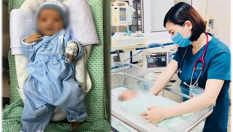 Cập nhật mới nhất tình hình sức khoẻ em bé bị bỏ rơi dưới hố ga