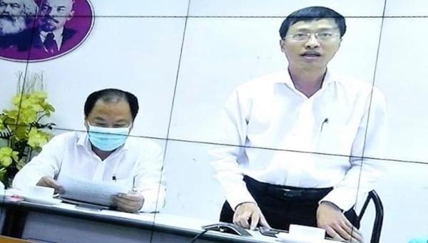 PGS.TS Phan Trọng Lân phát biểu từ đầu cầu TP HCM trong một buổi giao ban phòng chống địch COVID-19 trực tuyến của Bộ Y tế.