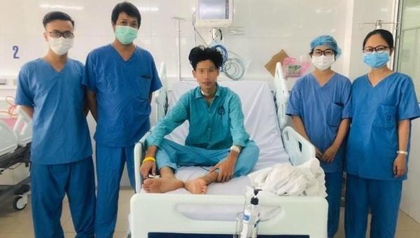 Bệnh nhân H. đã hồi phục sức khỏe, tỉnh táo hoàn toàn (ảnh: BVCC)