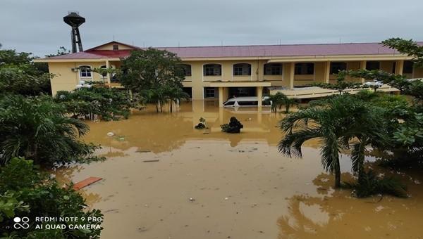 Mưa lũ vừa qua gây ngập lụt trên diện rộng tại Quảng Bình.