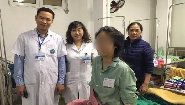 Bệnh nhân đã hồi phục sức khỏe sau ca mổ. Ảnh: Hải Hà