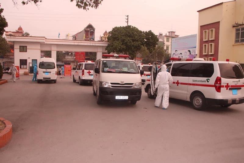 Bệnh viện dã chiến Chí Linh tiếp nhận 69 ca dương tính với Covid-19